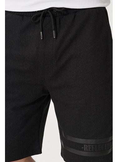 AC&Co / Altınyıldız Classics Slim Fit Günlük Rahat Spor Örme Şort 4A9521200005 Siyah